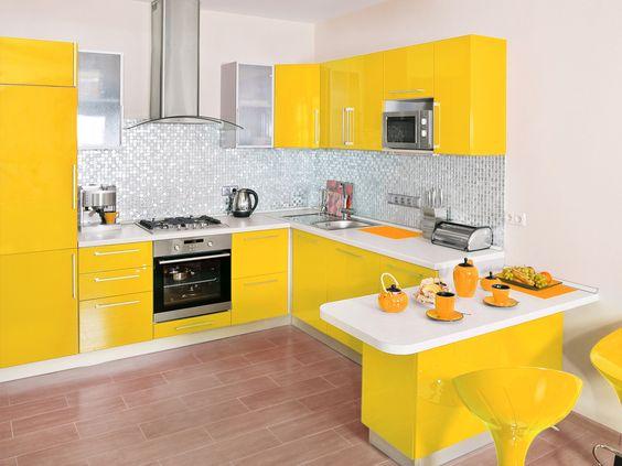 cocinas en color amarillo vogue 2018