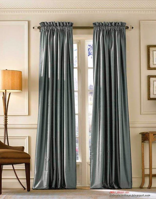 Tendencias en cortinas para sala para salas peque as modernas sencillas - Cortinas para sala sencillas ...