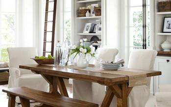 Decoracion de comedores con mesas rusticas glam