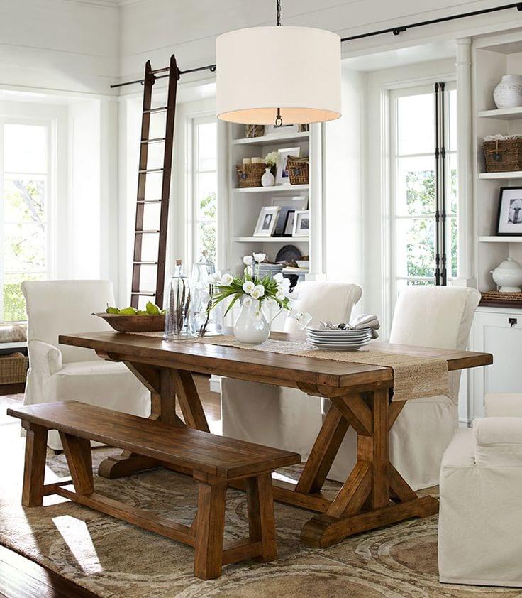 Decoracion de comedores con mesas rusticas glam curso de for Decoracion de comedores