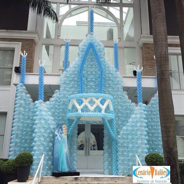 Decoracion Con Globo Frozen 36 Curso De Organizacion