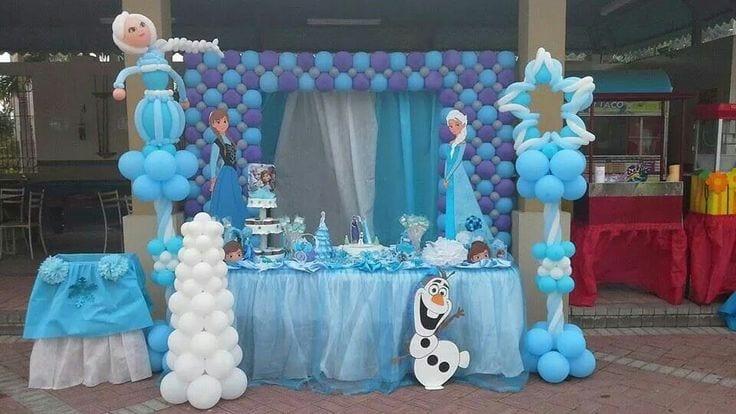 Decoracion con globo frozen 56 curso de organizacion - Manteles de cumpleanos infantiles ...