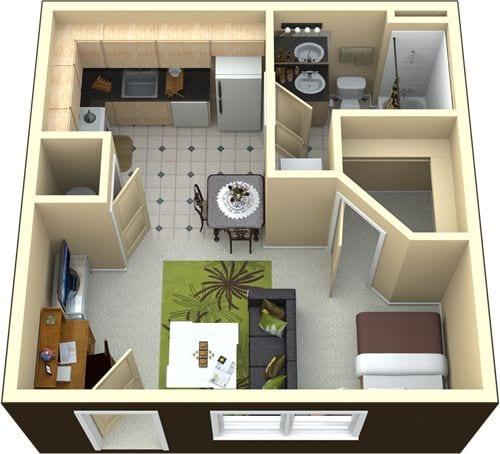 Planos de Decoración de casas y departamentos pequeños