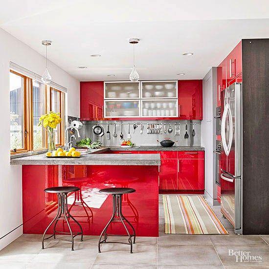 decoracion de cocinas en color rojo 2018 (2)