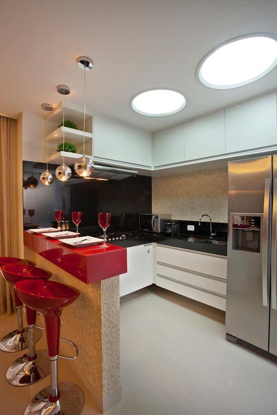 decoracion de cocinas en color rojo 2018 (5)