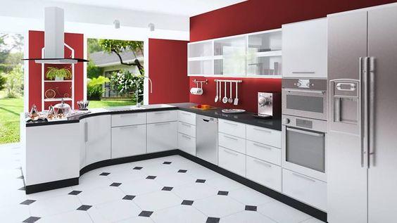 decoracion de cocinas en color rojo 2018 (6)
