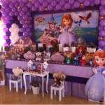 Decoracion fiesta de princesita sofia