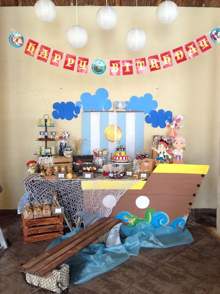 Decoracion de fiesta jake y los piratas 30 curso de for Decoracion y organizacion del hogar
