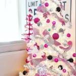 Decoracion de navidad plata con rosa