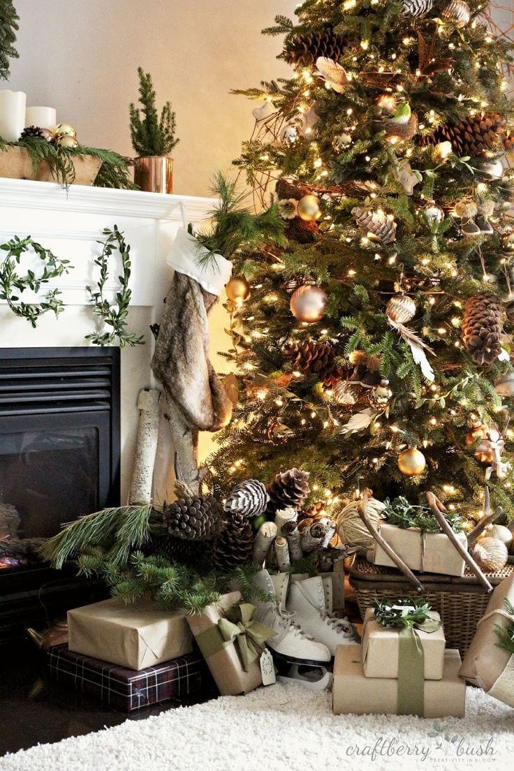 Decoracion de navidad verde con cobre 30 curso de for Decoracion hogar verde