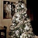Decoracion de navidad verde con plata