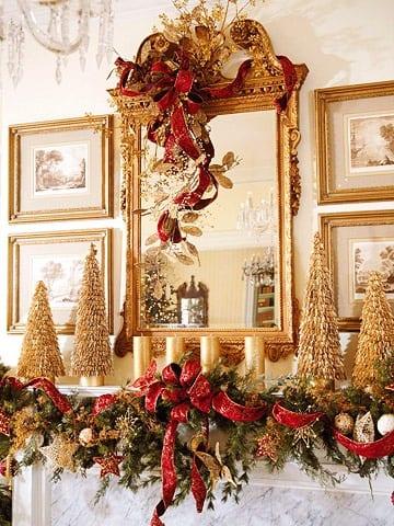 Decoracion navidad rojo con dorado 10 curso de for Decoracion del hogar navidad 2015