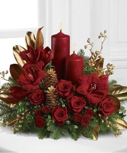 Decoracion navidad rojo con dorado 13 curso de for Decoracion del hogar en navidad
