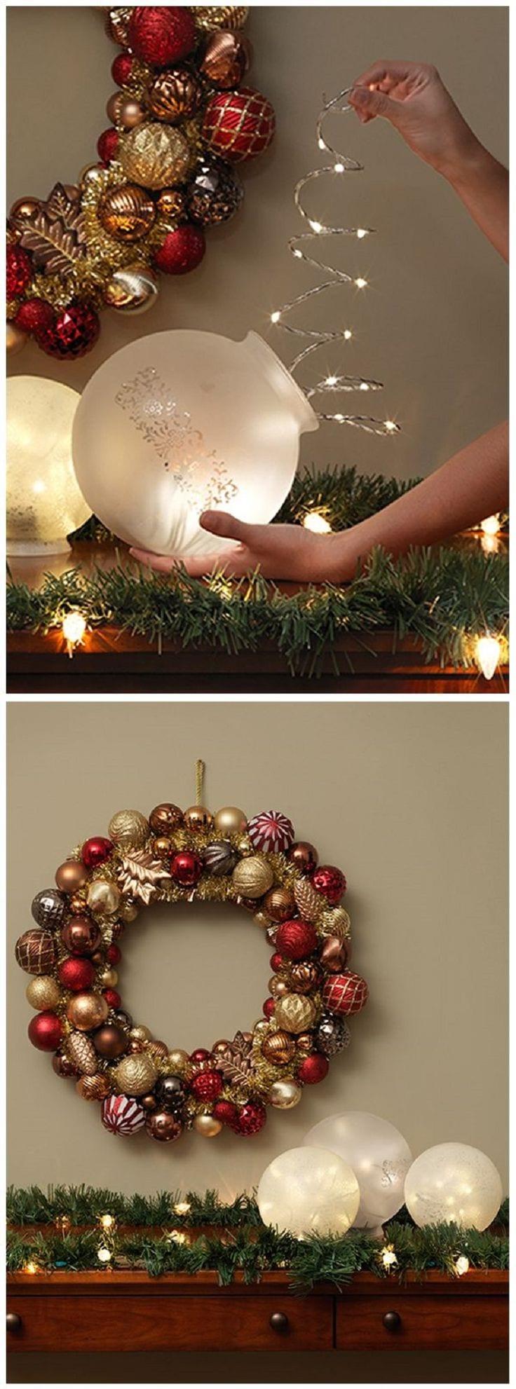 Decoracion navidad rojo con dorado 5 curso de for Decoracion del hogar navidad 2015