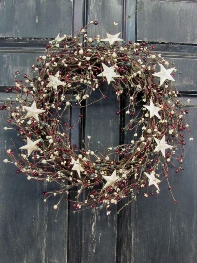 Decoracion navideña con estrellas