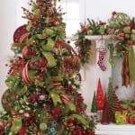 Decoracion navideña con verde