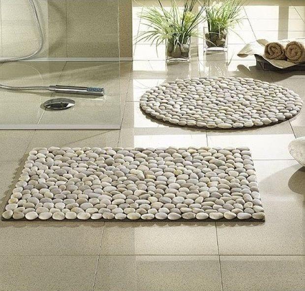 Como hacer tapetes de piedra