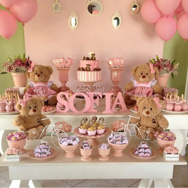 Fiestas infantiles baby shower de osos curso de for Decoracion postres