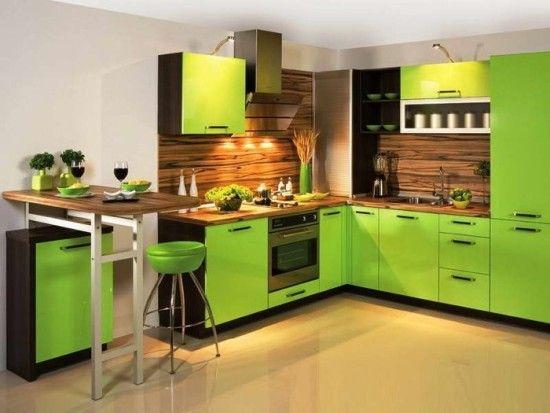 ideas de colores para decoracion de cocinas modernas 2018 (2)