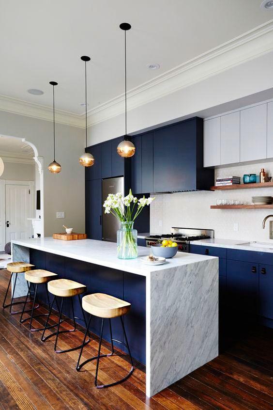 ideas de colores para decoracion de cocinas modernas 2018