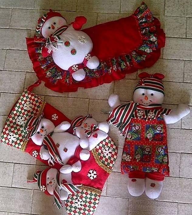 Ideas para decoracion con monos de nieve de fieltro 26 - Decoracion navidena fieltro ...