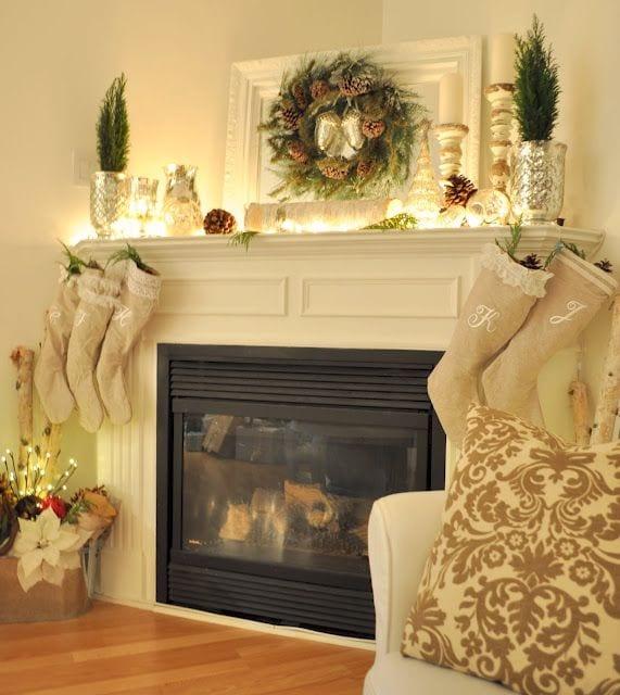 Ideas para decorar Chimeneas en Navidad - Curso de Organizacion ...