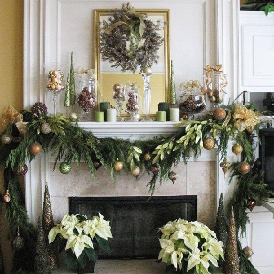 Ideas para decorar chimeneas en navidad curso de - Ideas para decorar en navidad ...