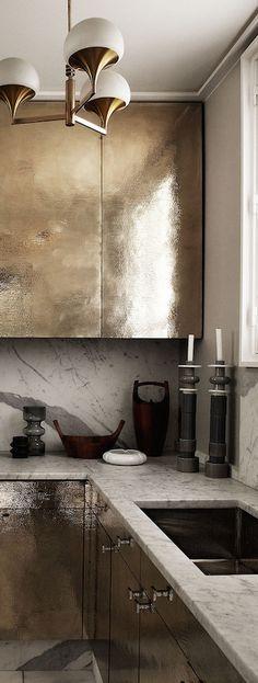 moda en metal para encimera o barra para decoracion de cocinas 2018 (2)