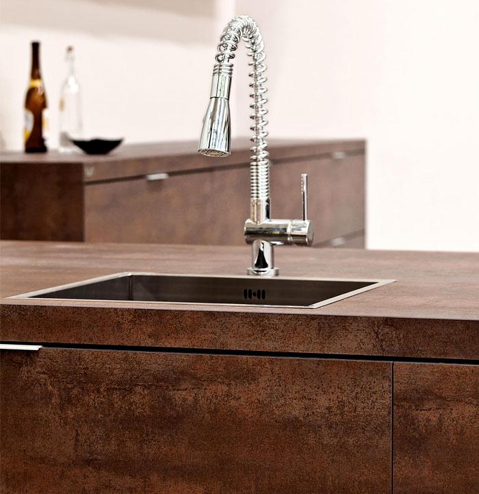 moda en metal para encimera o barra para decoracion de cocinas 2018 (3)
