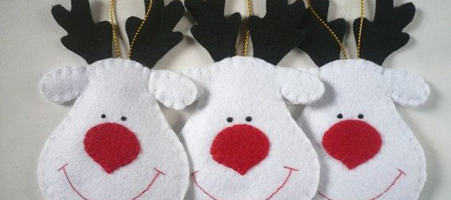 Decoraciones en fieltro de navidad