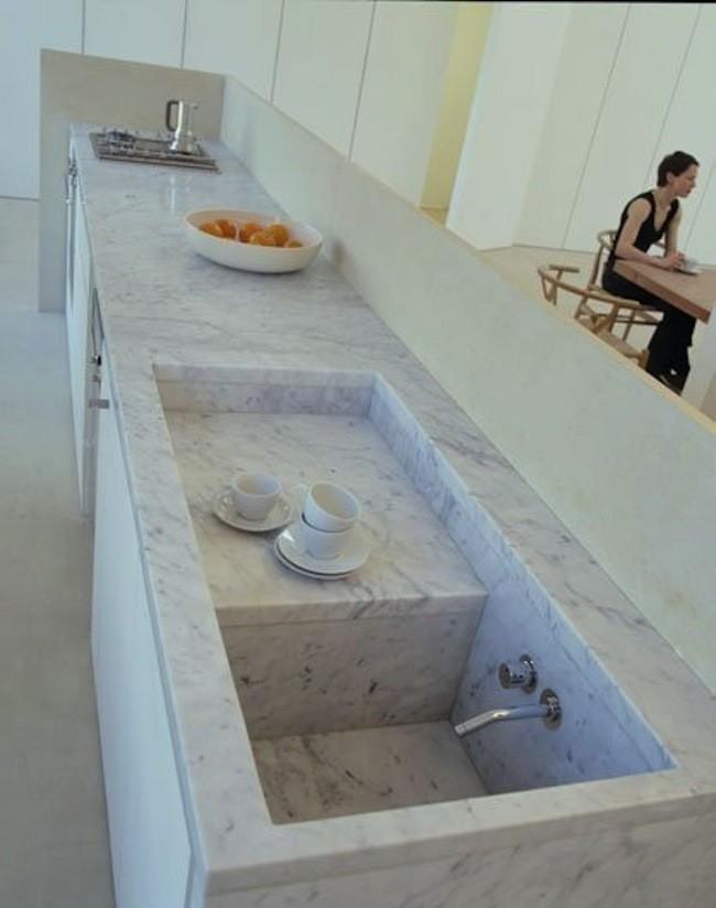 tendencia en marmol para encimera o barra para cocinas 2018 (2)