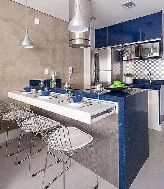 Tendencia en marmol para encimera o barra para cocinas - Ejemplos cocinas pequenas ...