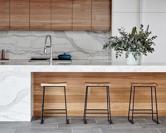 tendencia en marmol para encimera o barra para cocinas 2018 (5)