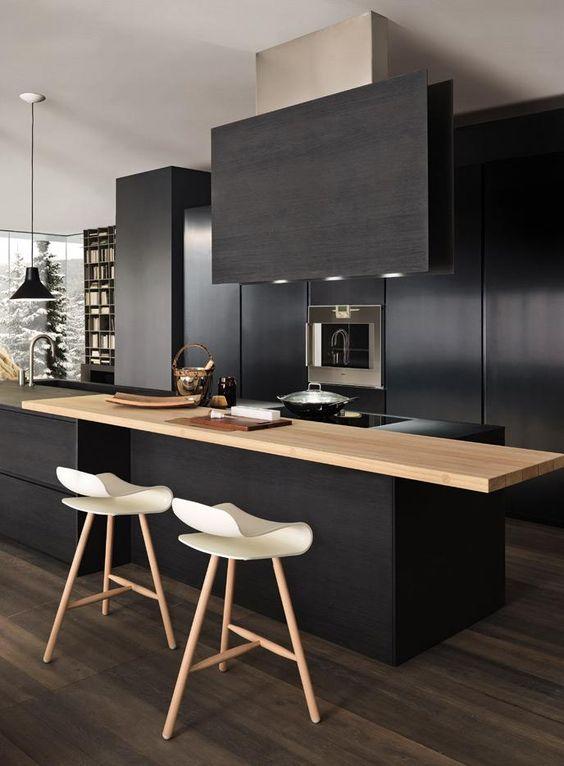 tendencia en madera para encimera o barra para cocinas 2018 (3)