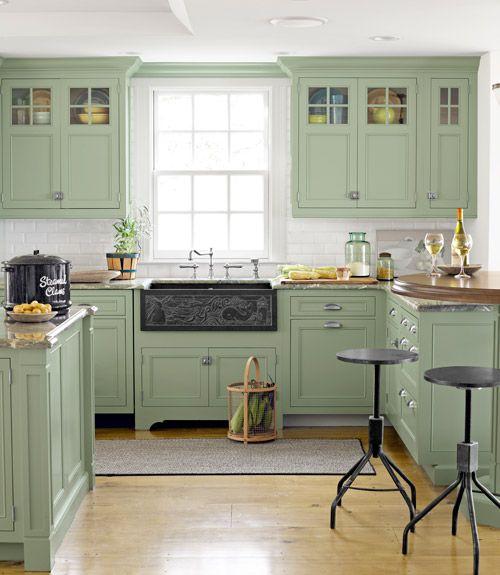 tendencias en cocinas de color verde 2018 (2)