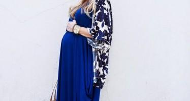 Vestidos largos de verano para embarazadas