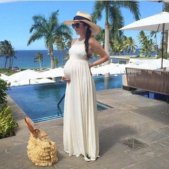 50c231892 Vestidos largos de verano para embarazadas (18) - Curso de ...