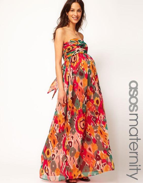 97e42423b Vestidos largos de verano para embarazadas (9) - Curso de ...