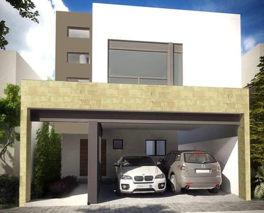 Cocheras y fachadas para casas de interes social 10 for Fachadas de casas modernas de interes social