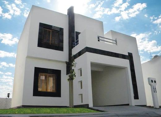 Cocheras y fachadas para casas de interes social 11 for Fachadas de casas modernas con zaguan