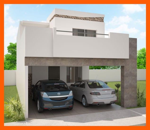 Cocheras y fachadas para casas de interes social 12 for Fachadas de casas modernas de interes social