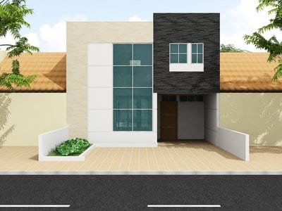 Cocheras y fachadas para casas de interes social 13 for Fachadas de casas modernas de interes social