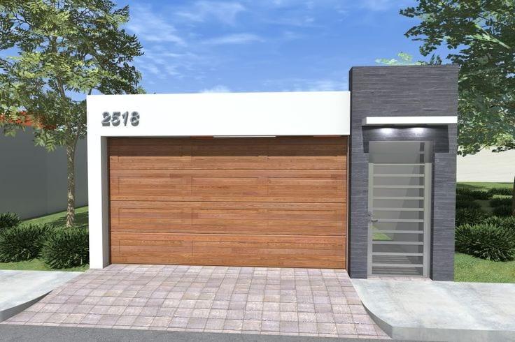 Cocheras y fachadas para casas de interes social 3 for Fachada de casas modernas con porton