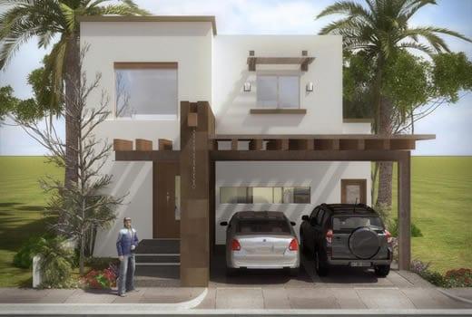 Cocheras y fachadas para casas de interes social 8 for Fachadas minimalistas para casas pequenas