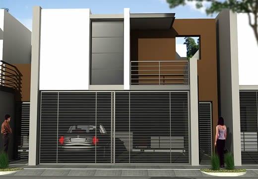 Cocheras y fachadas para casas de interes social 9 for Fachadas de casas modernas de interes social