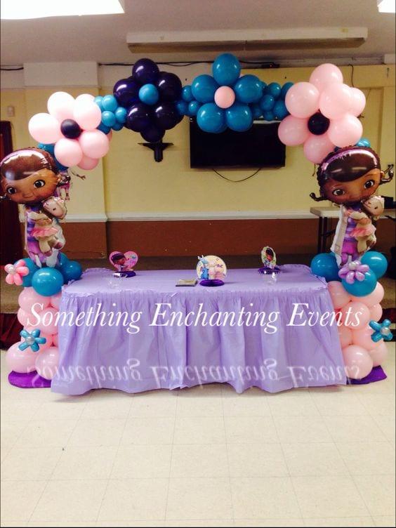 decoracion con globo de doctora juguetes 20 curso de