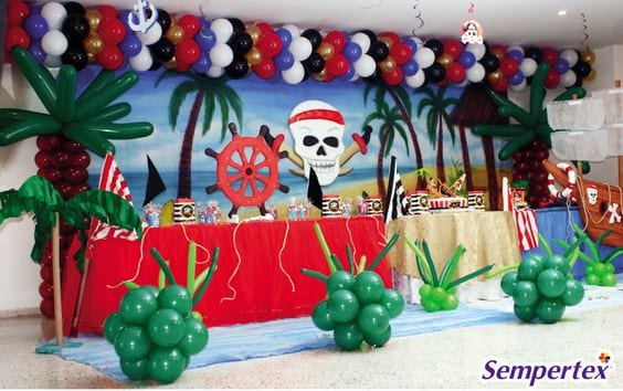 decoracion con globos de piratas 11 curso de