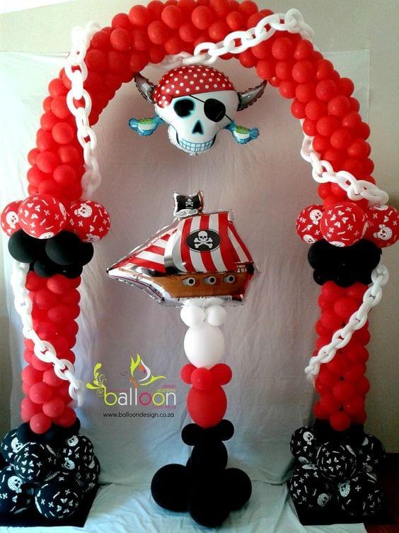 Decoracion Con Globos De Piratas 17 Curso De