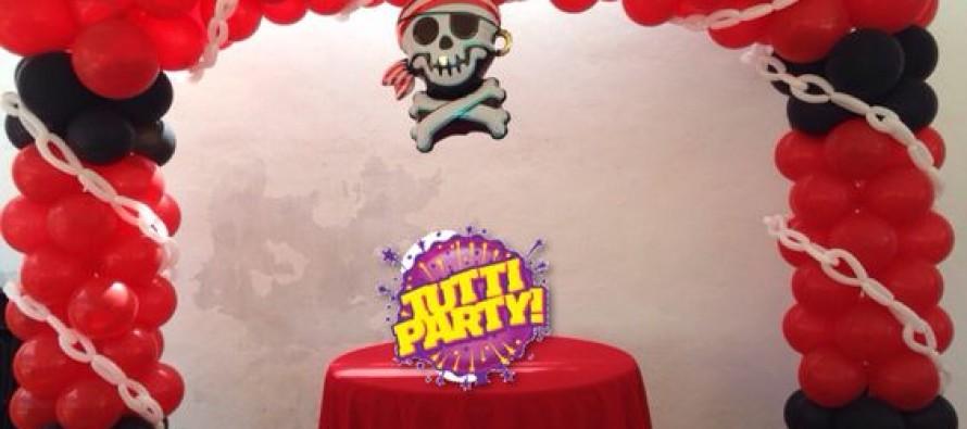 Decoracion con globos de piratas