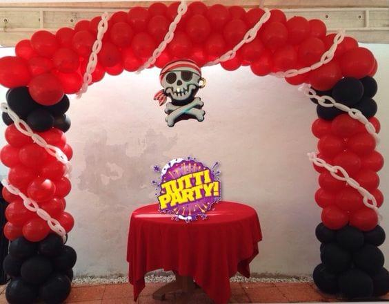 Decoracion con globos de piratas curso de organizacion - Bombas para decorar ...